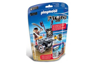 (Black) - Playmobil 6165 Pirates Interactive Cannon Pirate Capt Black