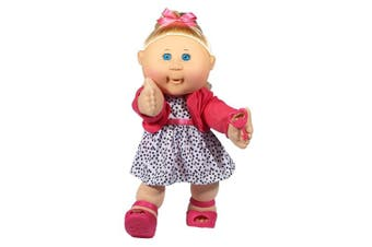 (Blonde Hair/Blue Eye Girl) - Cabbage Patch Kids 36cm Kids - Blonde Hair/Blue Eye Girl Doll in Trendy Fashion