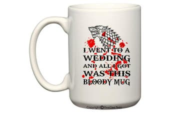(440ml) - Game of Thrones Wedding - Dire Wolf Bloody Mug - Coffee or Tea Cup 11 / 440ml by BeeGeeTees® (440ml)