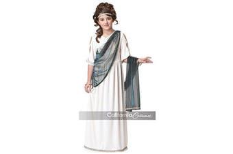 (Child Size 10-12, White) - Roman Princess Child Costume - Large