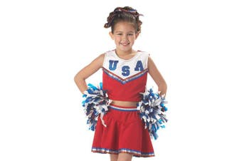 (L) - California Costumes Patriotic Cheerleader Child Costume, Large
