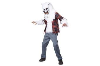 (12-14, One Color) - California Costumes White Werewolf Costume, One Colour, 12-14