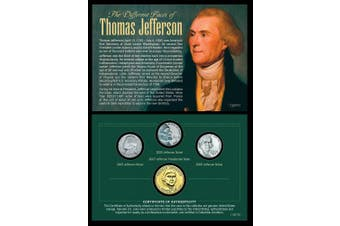 American Coin Treasures Kids - The Different Faces of Thomas Jefferson Coin & Stamps