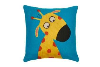 Be-you-tiful Home Funny Giraffewool Felt Pillow, 30cm by 30cm