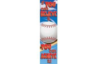 (Baseball) - Eureka Baseball Motivational Banner, Measures 110cm x 30cm , Great for Classrooms, Kids Rooms, Parties & More
