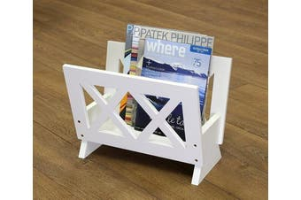 (white) - Frenchi Home Furnishing Contemporary Magazine Rack, White