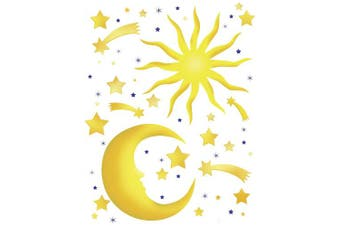 (Stars And Moon) - Brewster Spirit 350-0114 Peel & Stick Stars and Moon European Wall Decals