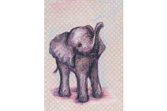 Oopsy Daisy Elephant Baby Canvas Wall Art, Grey, 25cm x 36cm