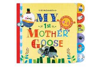 (Mother Goose) - C.R. Gibson My First Mother Goose Nursey Rhyme Book for Children, 10 x 22cm x 1.3cm , 1 piece