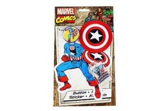 C & D Visionary Marvel Comics Retro Captain America Collector's Set