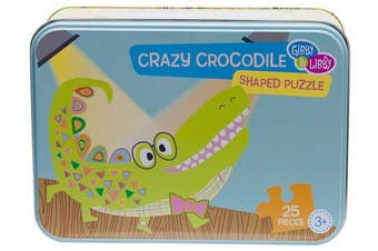 (Crazy Crocodile) - C.R. Gibson Shaped Puzzle, By Gibby & Libby, For Ages 3+, Includes 25 Pieces - Crazy Crocodile