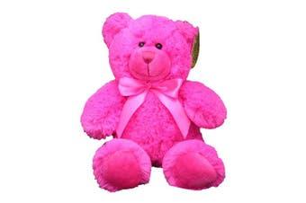 (Hot Pink) - Anico Plush Toy Bright Bear, Stuffed Animal, Hot Pink, 20cm Tall