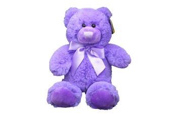 (Purple) - Anico Plush Teddy Bear, Stuffed Animal, Bright Purple, 20cm Tall