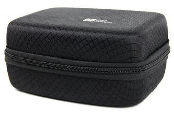 Jet Black Hard EVA Carry Case for the Nikon KeyMisiion 80 | 170 | 360 Action Cameras - by DURAGADGET