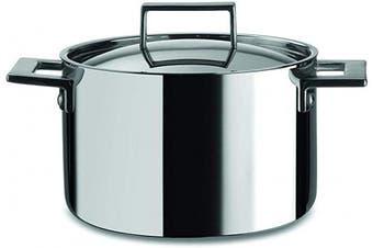 (20 CM, Deep Pot) - Mepra Attiva 30180120 20cm Deep Pot – Silver Finish Kitchenware, Hand Washable Kitchen Utensils