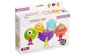 (Monster) - Bakelicious Monster Cookie Feet, Multicoloured