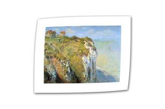 (36cm  x 46cm , Flat/Rolled Canvas) - Art Wall Cliffs 36cm by 46cm Flat/Rolled Canvas by Claude Monet with 5.1cm Accent Border