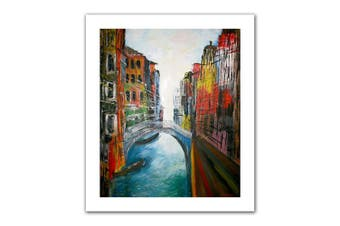 (90cm  by 80cm ) - Art Wall 'Venice Grand Canale' Unwrapped Canvas Artwork by Martina Bleichner, 90cm by 80cm