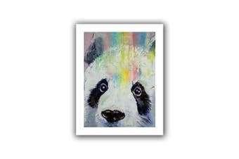(90cm  by 70cm ) - Art Wall Panda Rainbow Unwrapped Canvas Art by Michael Creese, 90cm by 70cm