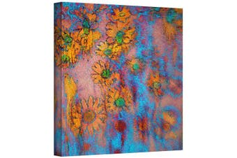 (14x14) - ArtWall Dean Uhlinger 'Floral Thought' Gallery Wrapped Canvas Artwork, 36cm by 36cm
