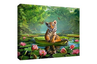 (18x24) - Art Wall Jerry Lofaro 'Tiger Lily' Gallery-Wrapped Canvas Artwork, 46cm by 60cm