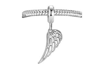 Genuine Solid Silver 925 Guard angel wing bead charm compatible with Pandora bracelet