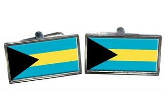 Bahamas Flag Cufflinks in a Chrome Case