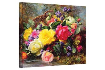 (14x18) - Art Wall williams-b-006-14x 18-w Albert Williams 'Roses from a Victorian Garden' Gallery-Wrapped Canvas Artwork, 36cm by 46cm