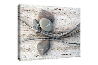 "(16x24) - ArtWall ""Still Life Sticks Stones"" Gallery Wrapped Canvas Artwork by Elena Ray, 41cm by 60cm"