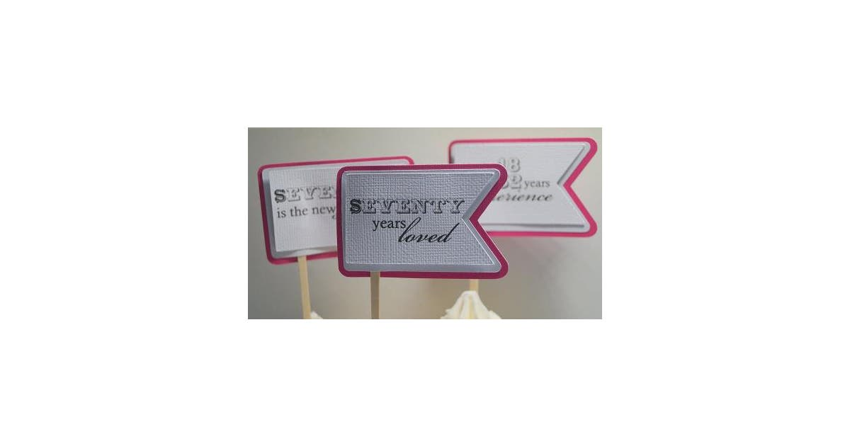 Dick Smith All About Details Taffy Pink 70th Birthday Quotes Cupcake Toppers Set Of 12 Kitchenware