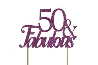 All About Details Pink 50- & -fabulous Cake Topper