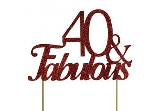 All About Details Red 40- & -fabulous Cake Topper