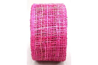 (6.4cm , Fuchsia) - Arts Craft Natural Abaca Burlap, Fuchsia, 6.4cm by 10-Yard