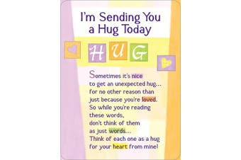Miniature Easel Print with Magnet: I'm Sending You a Hug, 9.1cm x 12cm