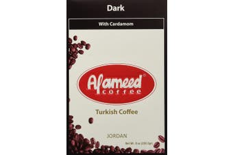 Al Ameed Dark Roast Ground Coffee with Cardamom, 240ml