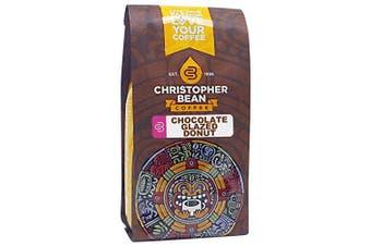 Christopher Bean Coffee Decaffeinated Ground Coffee, Chocolate Glazed Donut, 350ml