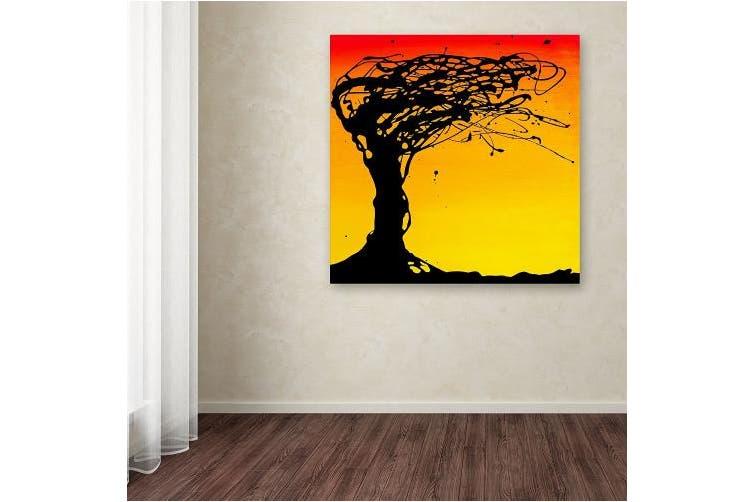 (36cm  by 36cm ) - Trademark Fine Art Windblown Tree Artwork by Roderick Stevens, 36cm by 36cm