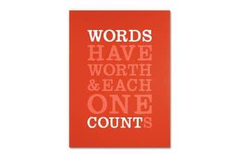 (46cm  by 60cm ) - Trademark Fine Art Words Worth II Artwork by Megan Romo, 46cm by 60cm