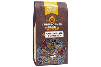 Christopher Bean Coffee Decaffeinated Whole Bean Coffee, Decaf Colombian, 350ml