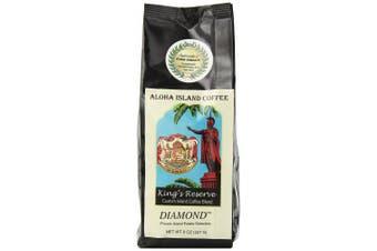 Aloha Island Coffee Kona Smooth DIAMOND Kings Reserve Hawaiian Blend Coffee, 240ml Whole Bean
