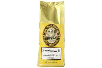 Aloha Island Coffee Platinum Organic Kona Coffee Blend, 240ml Ground, 240mls