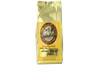 Aloha Island Coffee GOLD Organic 100% Pure Kona Coffee, 240ml Whole Bean, 240mls