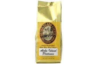 Aloha Island Coffee PLATINUM Organic 100% Pure Kona Coffee, 240ml Whole Bean, 240mls