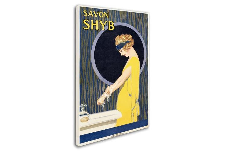 (30cm  by 48cm ) - Trademark Fine Art Savon S H Y B Canvas Art, 30cm by 48cm