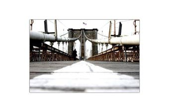 """(46cm  x 60cm ) - 46cm x 60cm """"brooklyn bridge"""" canvas wall art by yale gurney"""