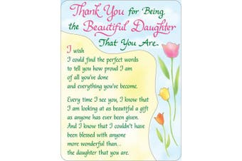Miniature Easel Print with Magnet: Thank you for Being My Beautiful Daughter, 9.1cm x 12cm