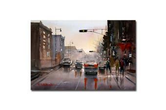 (60cm  x 80cm ) - Trademark Fine Art Slick Streets by Ryan Radke Canvas Wall Art, 60cm x 80cm