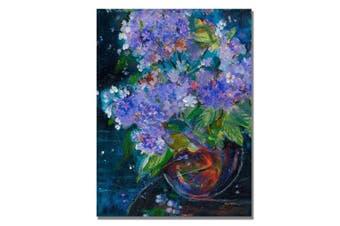 (46cm  by 60cm ) - Trademark Fine Art Bouquet in Violet by Shelia Golden Canvas Wall Art, 46cm by 60cm