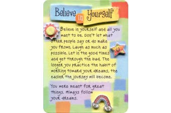 Blue Mountain Arts Believe in Yourself Miniature Easel-Back Print with Magnet (MIN459)