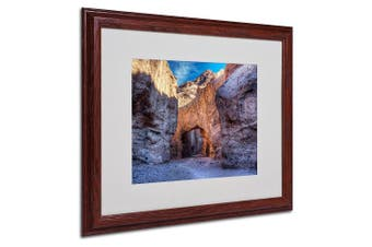 (41cm  by 50cm ) - Trademark Fine Art Natural Bridge by Pierre Leclerc Canvas Wall Artwork, Wood Frame, 41cm by 50cm